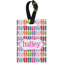 FlipFlop Rectangular Luggage Tag (Personalized)