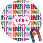 FlipFlop Round Magnet (Personalized)