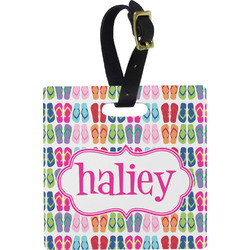 FlipFlop Square Luggage Tag (Personalized)