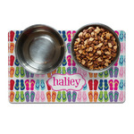 FlipFlop Dog Food Mat (Personalized)