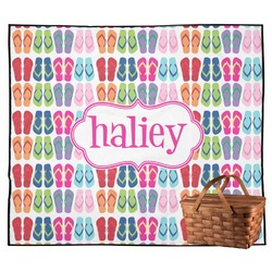 FlipFlop Outdoor Picnic Blanket (Personalized)