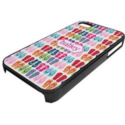FlipFlop Plastic 4/4S iPhone Case (Personalized)