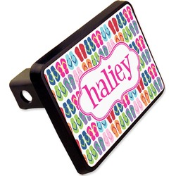 "FlipFlop Rectangular Trailer Hitch Cover - 2"" (Personalized)"