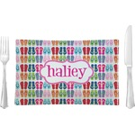 FlipFlop Glass Rectangular Lunch / Dinner Plate - Single or Set (Personalized)