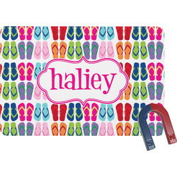 FlipFlop Rectangular Fridge Magnet (Personalized)