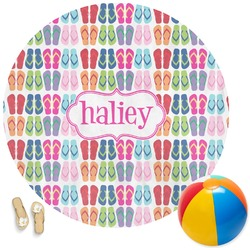 FlipFlop Round Beach Towel (Personalized)