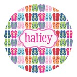 FlipFlop Round Decal (Personalized)