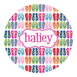 FlipFlop Round Decal - Custom Size (Personalized)