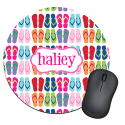 FlipFlop Round Mouse Pad (Personalized)