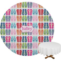 FlipFlop Round Tablecloth (Personalized)