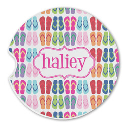 FlipFlop Sandstone Car Coaster - Single (Personalized)