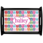 FlipFlop Black Wooden Tray (Personalized)