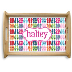FlipFlop Natural Wooden Tray (Personalized)