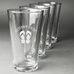 FlipFlop Beer Glasses (Set of 4) (Personalized)