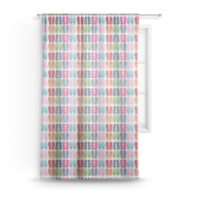 FlipFlop Sheer Curtains (Personalized)