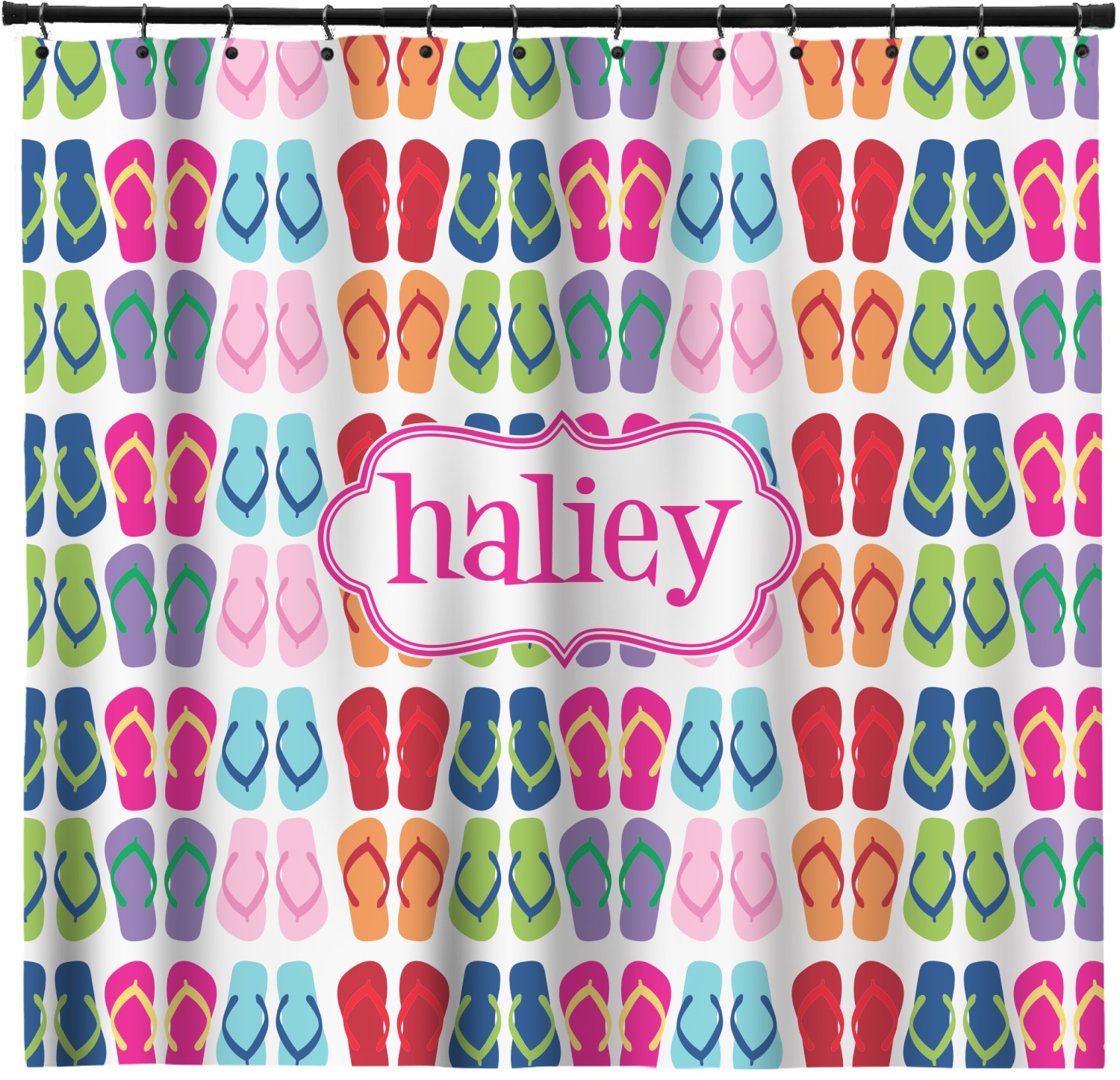 FlipFlop Shower Curtain Personalized