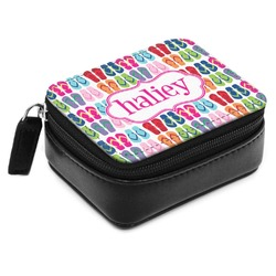 FlipFlop Small Leatherette Travel Pill Case (Personalized)