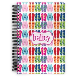 FlipFlop Spiral Bound Notebook (Personalized)