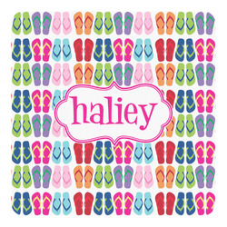 FlipFlop Square Decal - Medium (Personalized)