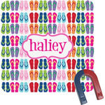 FlipFlop Square Fridge Magnet (Personalized)
