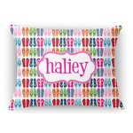FlipFlop Rectangular Throw Pillow Case (Personalized)