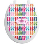 FlipFlop Toilet Seat Decal (Personalized)
