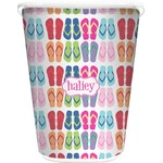 FlipFlop Waste Basket - Double Sided (White) (Personalized)