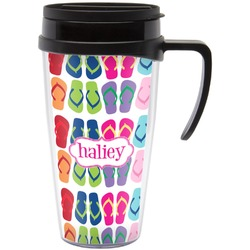 FlipFlop Travel Mug with Handle (Personalized)