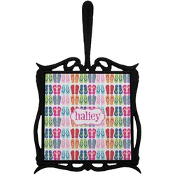 FlipFlop Trivet with Handle (Personalized)