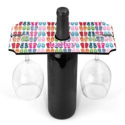 FlipFlop Wine Bottle & Glass Holder (Personalized)