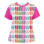 FlipFlop Women's Crew T-Shirt (Personalized)