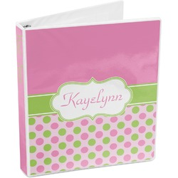 Pink & Green Dots 3-Ring Binder (Personalized)