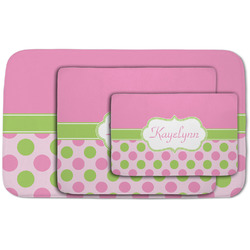 Pink & Green Dots Area Rug (Personalized)