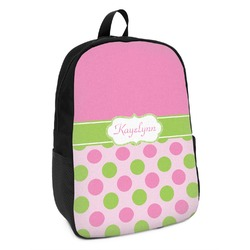 Pink & Green Dots Kids Backpack (Personalized)
