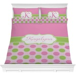 Pink & Green Dots Comforters (Personalized)