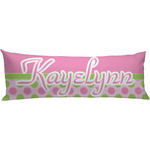Pink & Green Dots Body Pillow Case (Personalized)