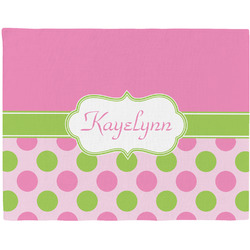 Pink & Green Dots Placemat (Fabric) (Personalized)