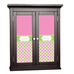 Pink & Green Dots Cabinet Decal - Custom Size (Personalized)