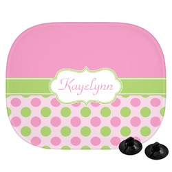 Pink & Green Dots Car Side Window Sun Shade (Personalized)