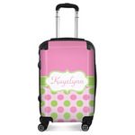 Pink & Green Dots Suitcase (Personalized)