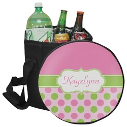 Pink & Green Dots Collapsible Cooler & Seat (Personalized)
