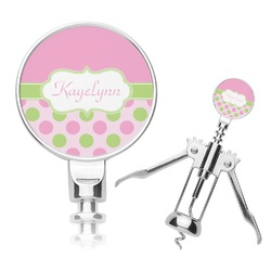 Pink & Green Dots Corkscrew (Personalized)