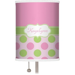 Pink & Green Dots Drum Lamp Shade (Personalized)