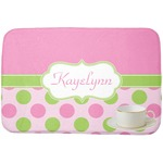 Pink & Green Dots Dish Drying Mat (Personalized)