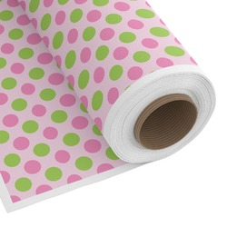 Pink & Green Dots Custom Fabric by the Yard (Personalized)