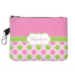 Pink & Green Dots Golf Accessories Bag (Personalized)