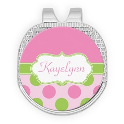 Pink & Green Dots Golf Ball Marker - Hat Clip