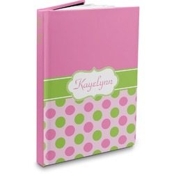 Pink & Green Dots Hardbound Journal (Personalized)