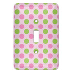 Pink & Green Dots Light Switch Covers (Personalized)