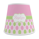 Pink & Green Dots Empire Lamp Shade (Personalized)
